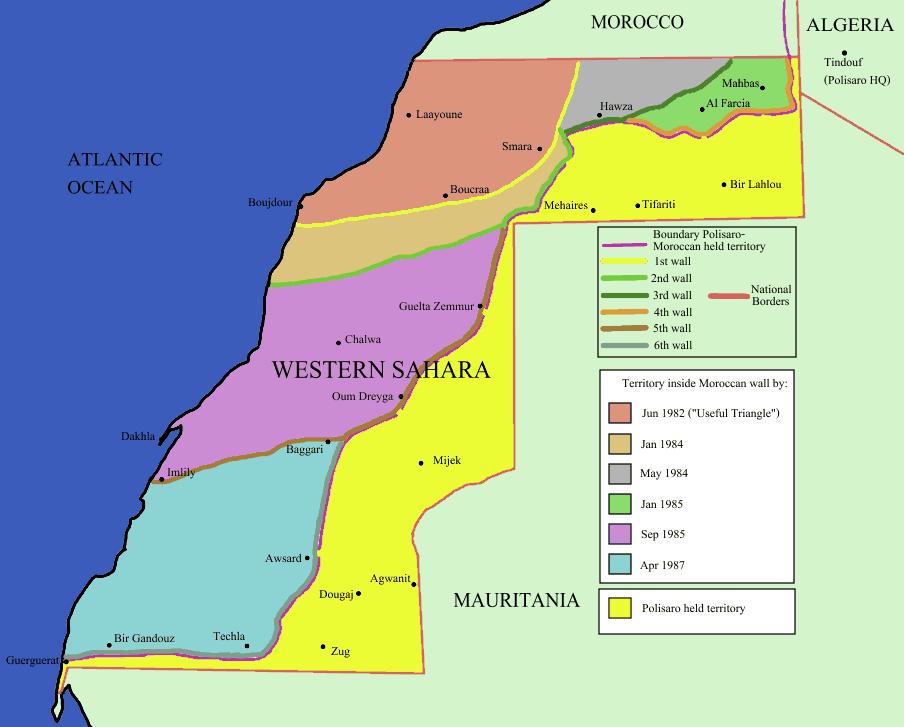 Muro marocchino nel Sahara Occidentale