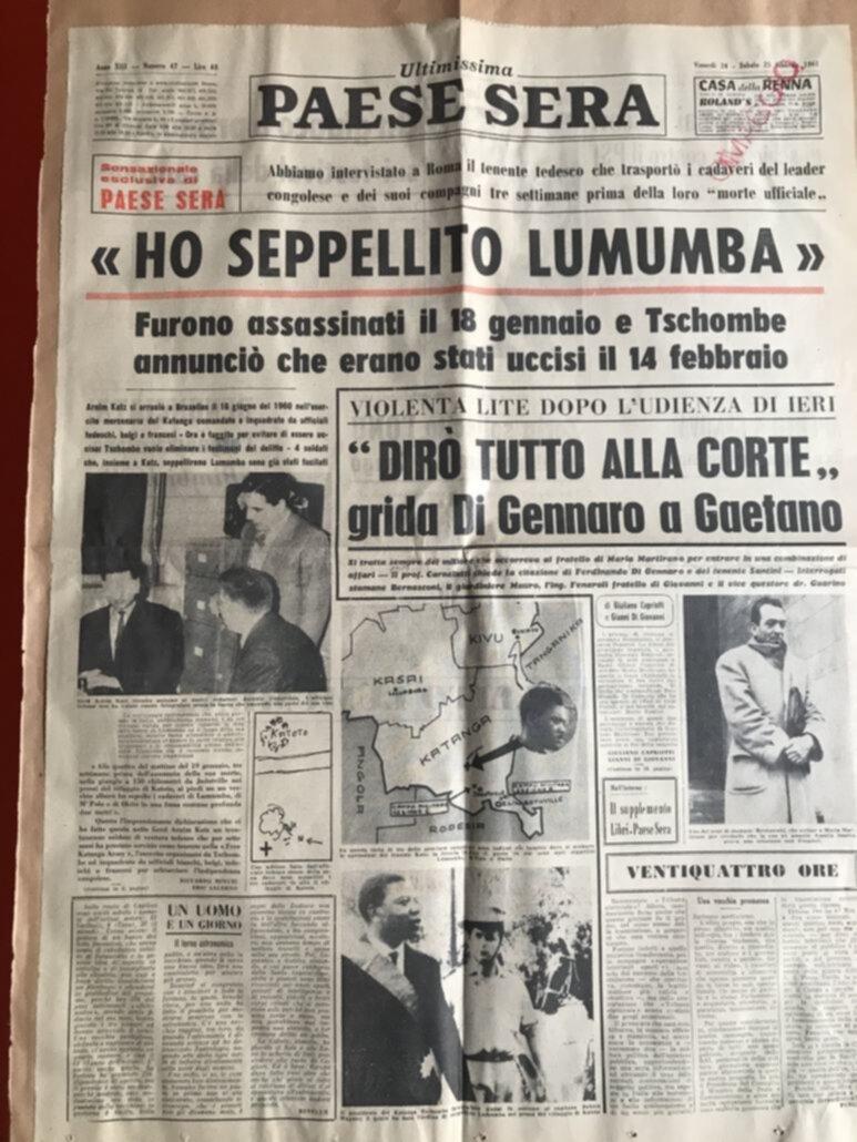 """Paese Sera"" - 23 e 24 febbraio 1961"