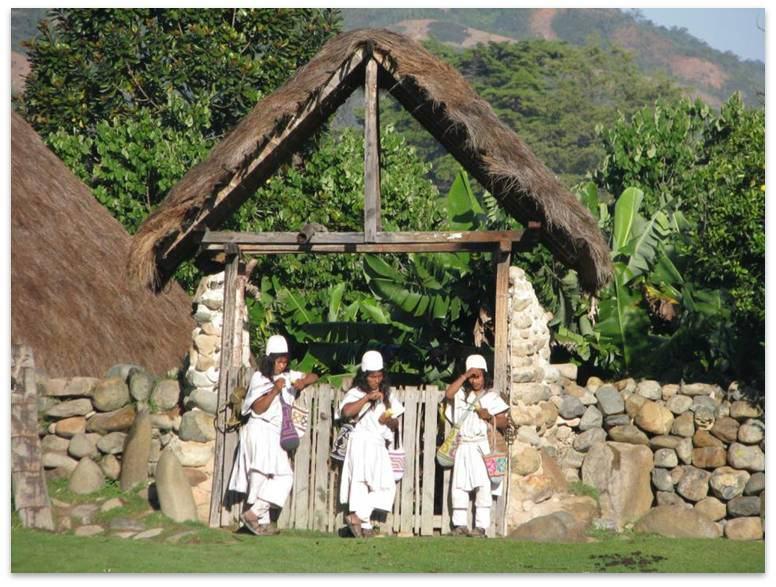 Los resguardos indígenas si definiscono come proprietà collettive di una comunità indigena, come dagli articoli 63 e 329 della Costituzione politica, che le dichiara non trasferibili né alienabili: indispensabili per rispettare il territorio e la cultura in cui ciascun colombiano si riconosce